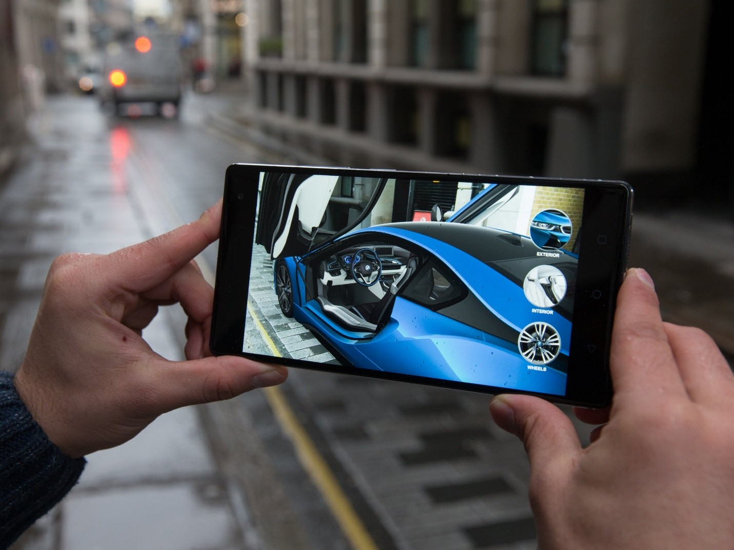 BMW virtual car application