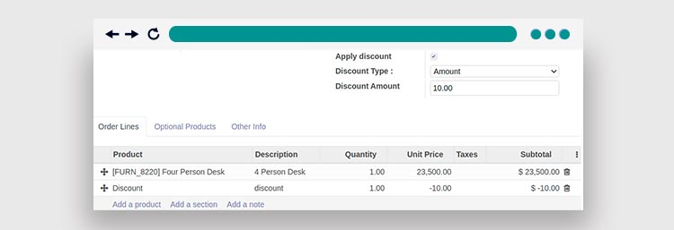 Global Discount in Invoice