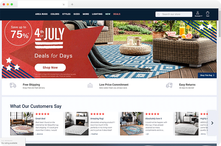 The Magento Ecommerce store for Buying Antique Rugs