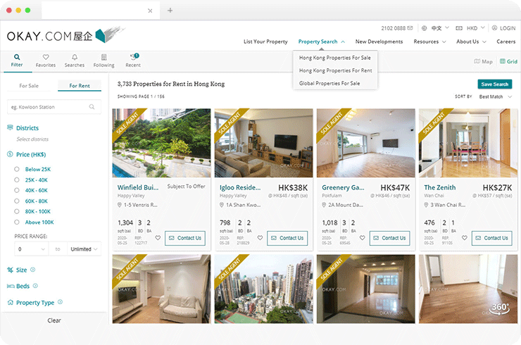 Web Based Application to View Latest Listings Of Properties for Rent or Sale