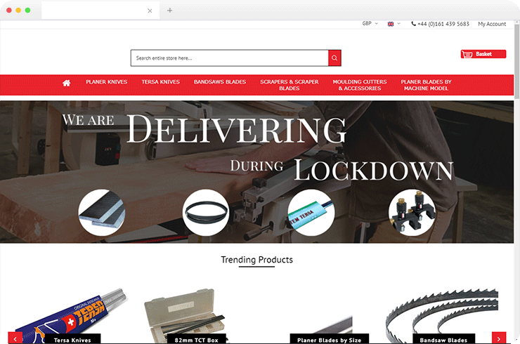 The Magento Ecommerce To Sell The Woodworking Tools At Ease