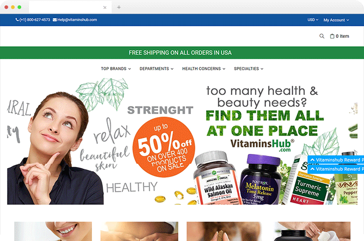 The B2C &  B2B Magento Ecommerce Store for A Vitamin Supplement Provider!