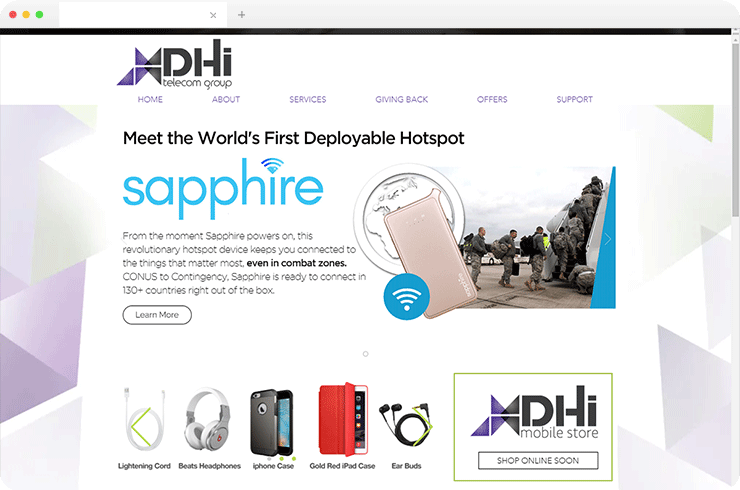 Online Mobile Topup and Internet Recharge System for US Military Personnel