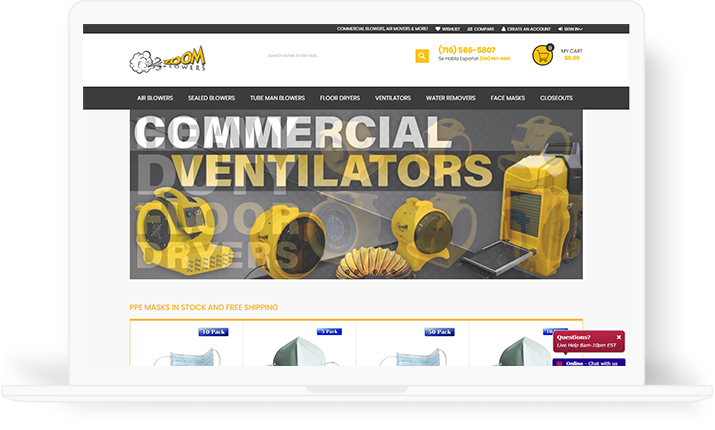 Brainvire Develops the Best-In-Class eCommerce Solution for a Leading Blower Manufacturing and Designing Company