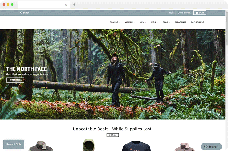 Developing a Dynamic B2C eCommerce Store for a Well-Known Outdoor Gear and Apparel Company