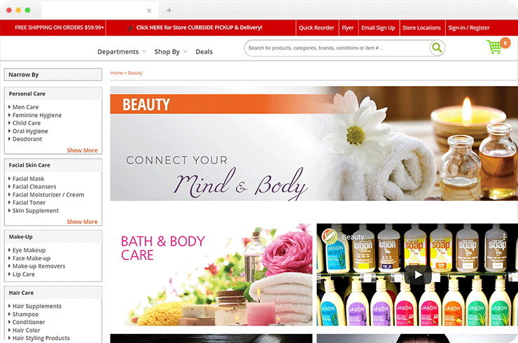 The B2C Magento Ecommerce Store Selling the Nutritional Products!