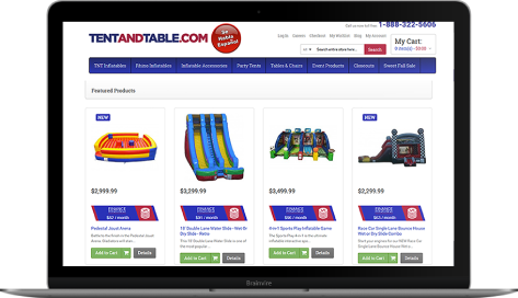 Tent and Table E-commerce