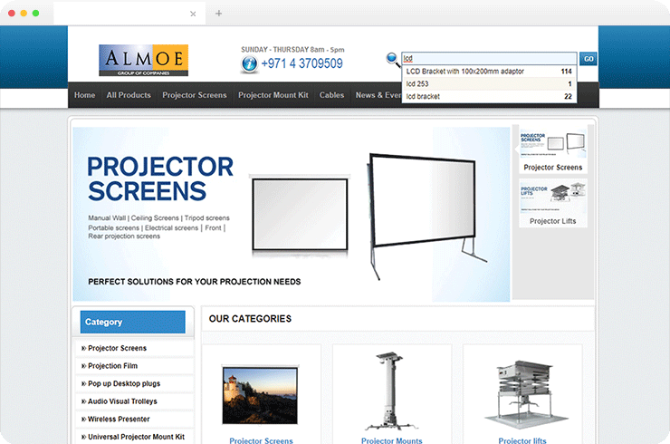 MultiFunctional E-Commerce Website For A Prominent Supplier of Audio Visual and IT Products