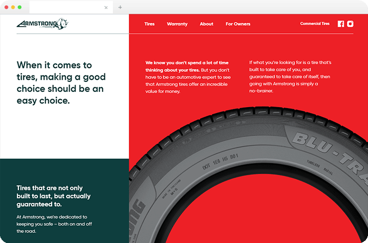 Complete UX Oriented Responsive Website for Leading Tire Supplier