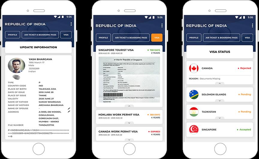 Travel document management app