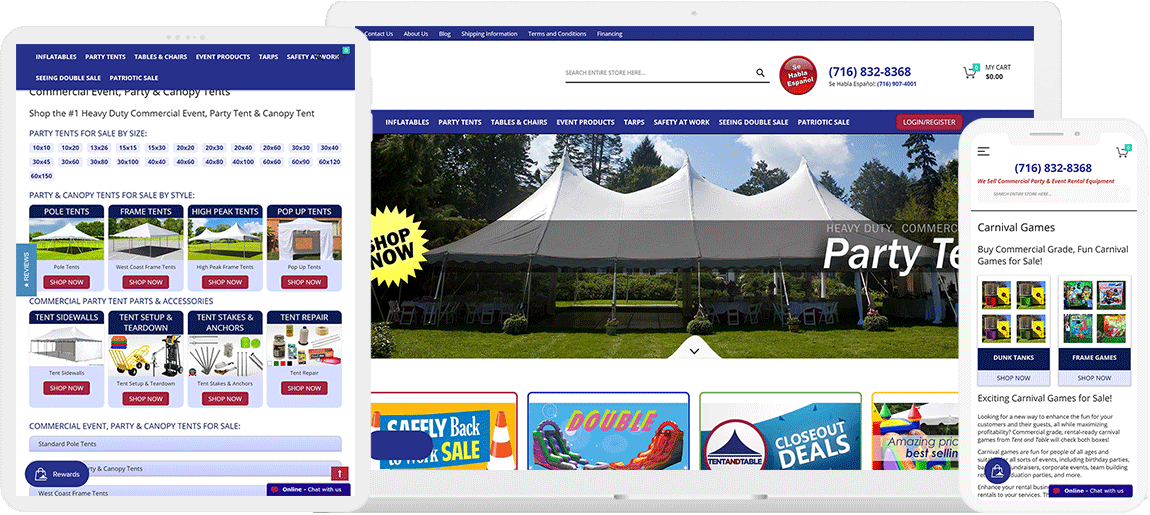 eCommerce & Odoo for US Leading Party Tents Giant