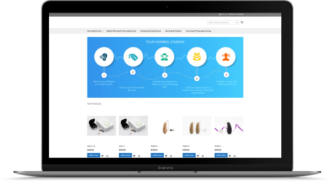 Hearing Aid eCommerce with CRM