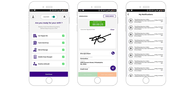 Feature-Rich Mobile App for Food Delivery Agents