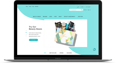 Customized Website for Leading Cosmetic Retailer