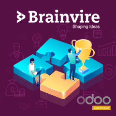 Brainvire Awarded Odoo Gold Partnership!