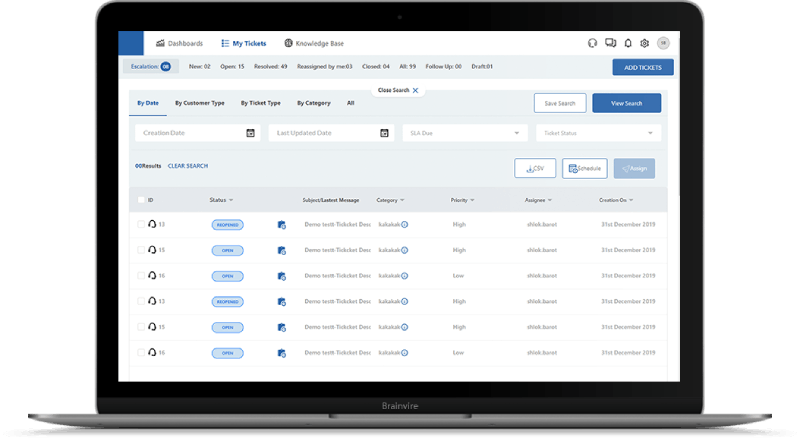 SaaS-Based CRM Ticketing Suite for Retail Chains