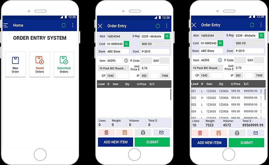 Order Management app for sales personnel
