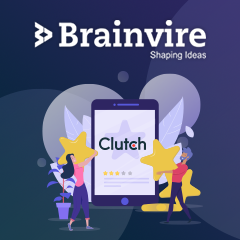 Brainvire Positioned as an IT Leader by Clutch After Getting 100+ Positive Reviews