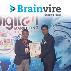 World Digital Marketing Congress Honors Brainvire With '100 Smartest Digital Marketing Leaders' Award