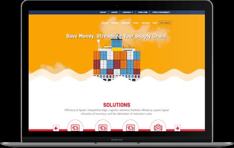 Multi-Domain CMS and Website Development for Logistics Service Provider