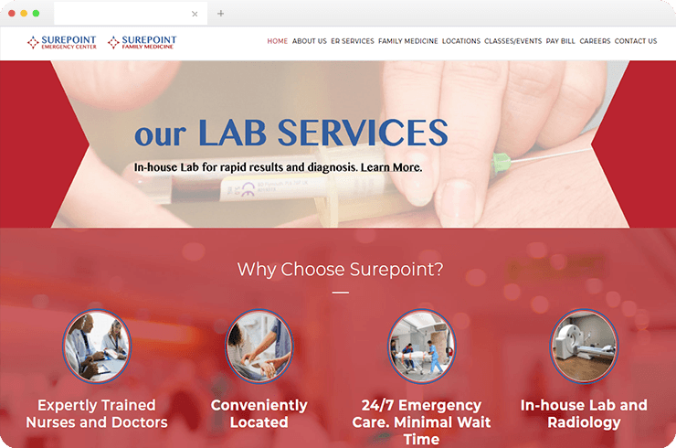 Offers A New Web Platform for An Emergency Room Chain to Increase Brand Awareness and Conversion Rate