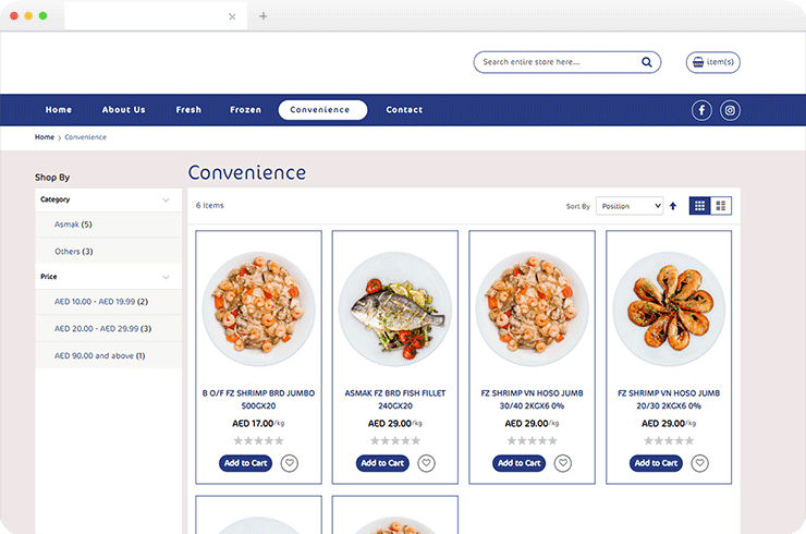 Brainvire Increases Revenue for Leading UAE-based Seafood Company with Ecommerce Website
