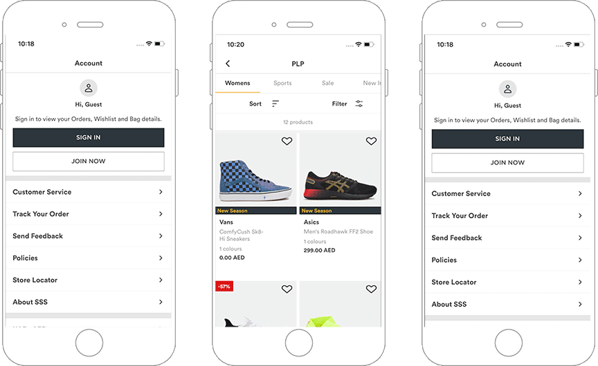 A Mobile App for a Sports Apparel Firm