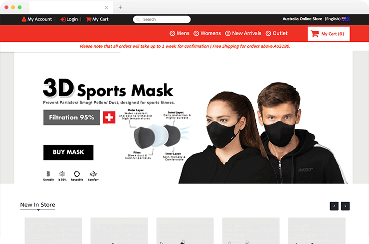 Brainvire Designed a Single Source Code Magento Website for A Shoe Brand