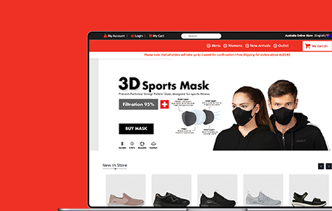 M2 commerce multiwebsite for Singapore shoe giant
