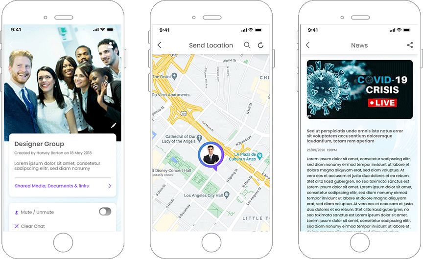 A Mobile App Facilitates Communication with Friends and Family Around the World