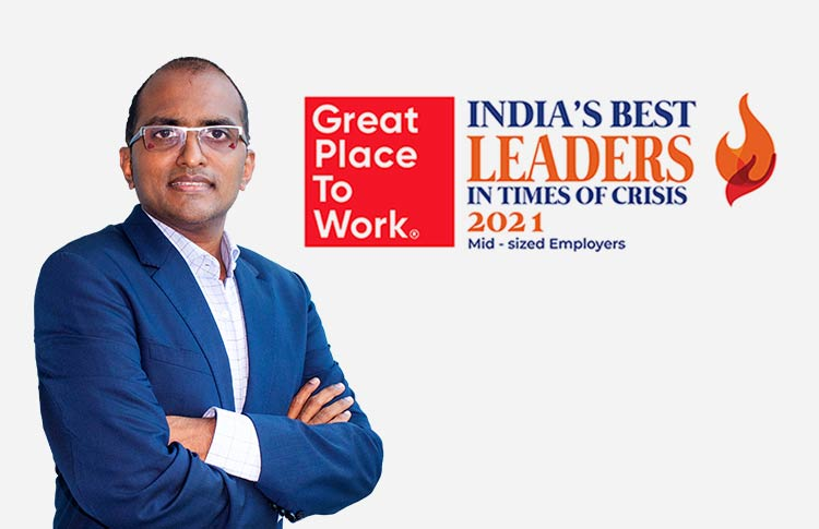 Chintan Shah, CEO, Brainvire, Recognized as One of India's Best Leaders in Times of Crisis 2021 by Great Place to Work® India